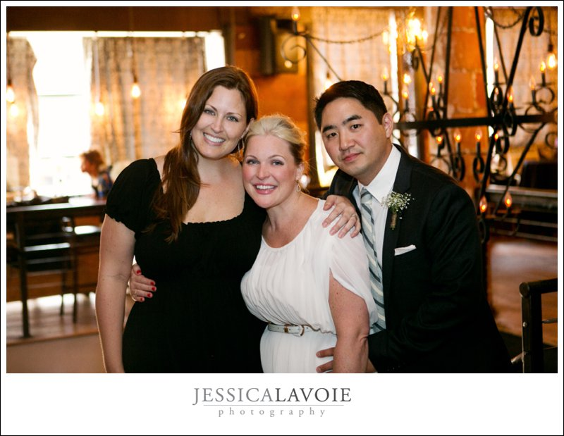 Wedding Photographer with Bride and Groom at ReBar in Brooklyn NY
